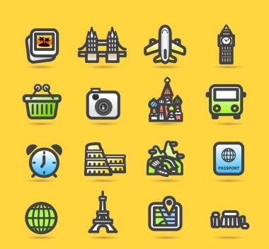 Travel,landmarks icon set