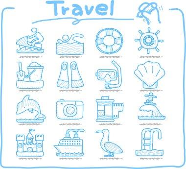 Vacation, Travel icon set