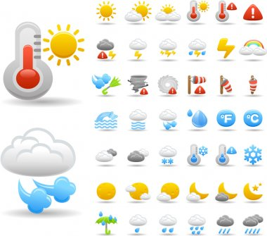 Weather icon set stock vector