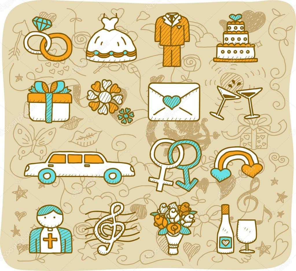 Wedding,love icons