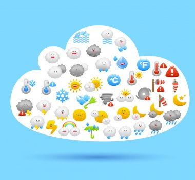Cloud and weather icons