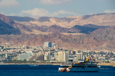 Seaside view of Eilat in Israel