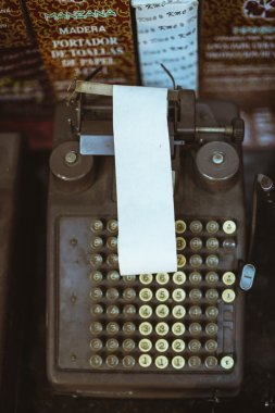 antique printing comptometer machine