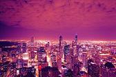 Panorama Chicaga v noci