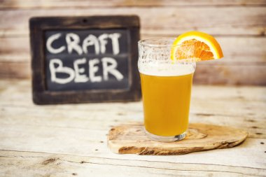 Craft Beer With Orange