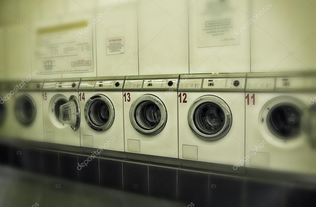 Coin operated laundry machines — Stock Photo © ABCDK #21621577