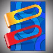 abstraktní modrý kruh pozadí flyer design s nálepkou