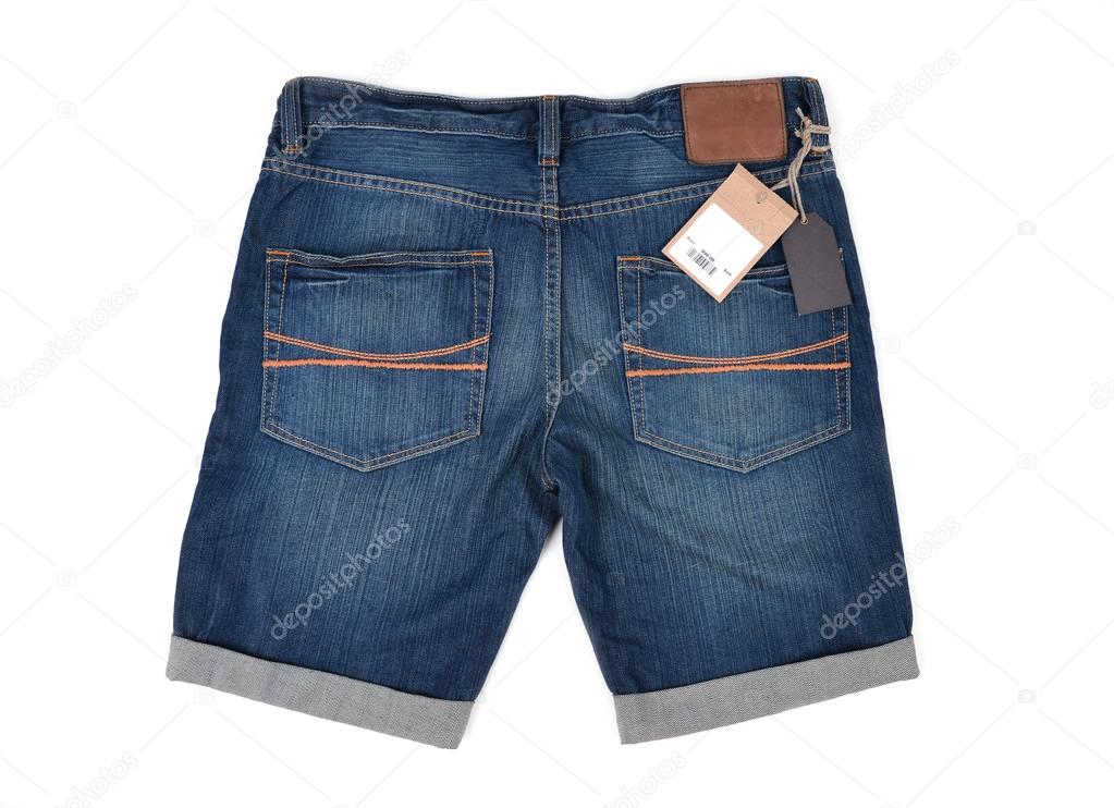 4911b1636 Precio de la etiqueta con código de barras en los pantalones vaqueros —  Fotos de Stock