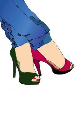 The colored shoes