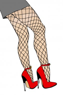 Legs and fishnet stockings