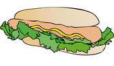 sendvič s klobásou a majonézou