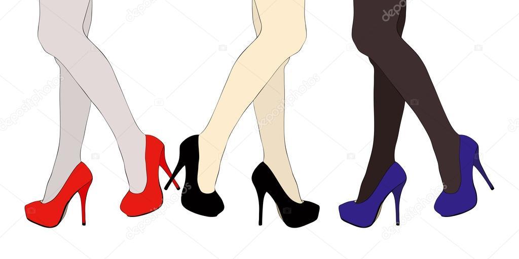 В туфлях в чулках в обуви на столе, молодые голые шлюхи фото