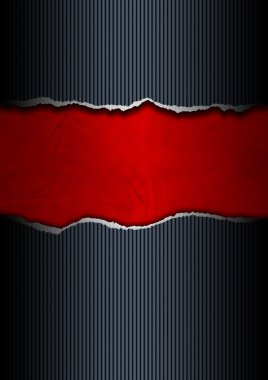 Black and Red Ripped Paper