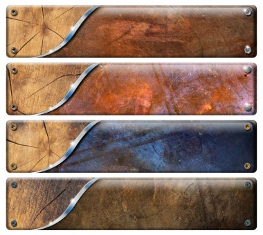 Four Horizontal Grunge Headers