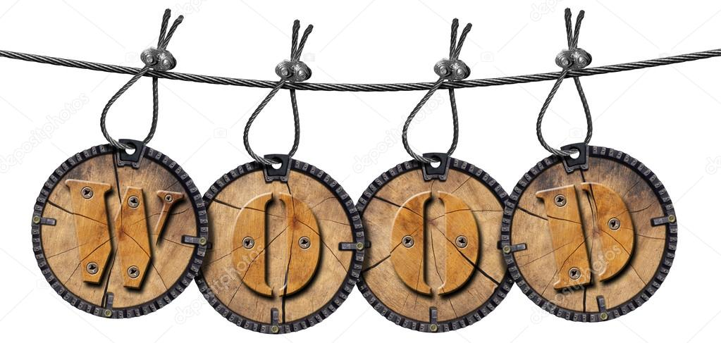 Written Wood Circular Tags