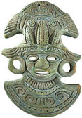 Fotografie Azteken Maya Mais Gott Maske - Mexiko