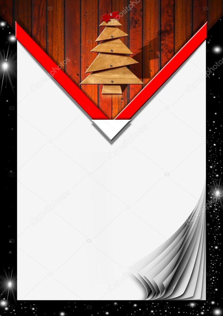 menú de Navidad con páginas en blanco — Foto de stock © catalby ...