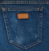 Blue jeans kapsy closeup