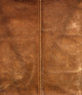 Old brown used leather with center seam stock vector