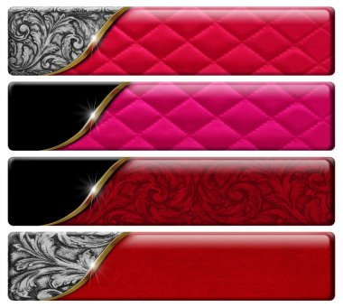 Four Luxury Headers with clipping path