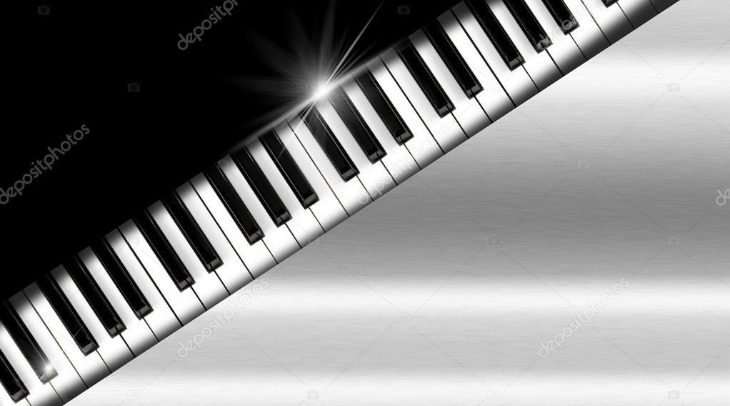Clavier De Piano Sur Fond Noir Et Mtal