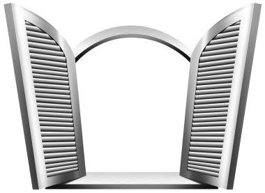 Gray Open Window