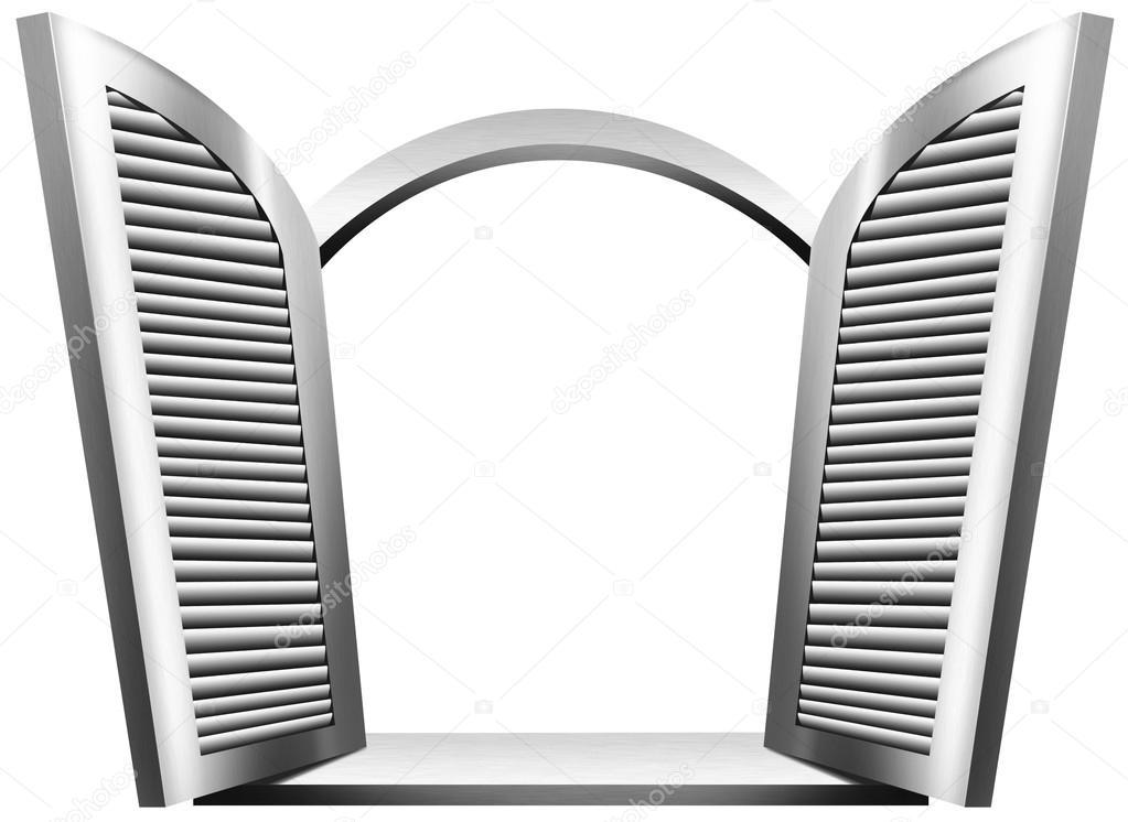 grise fen tre ouverte photographie catalby 46467265. Black Bedroom Furniture Sets. Home Design Ideas