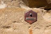 Fotografie alte Türklingel an Wand - Toskana-Italien