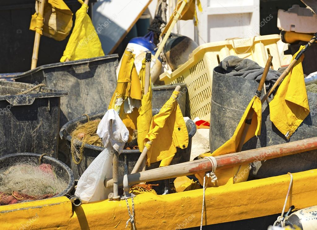 Fishing Equipment  in the Harbor - Liguria Italy