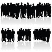Fotografia sagoma di gruppo di persone