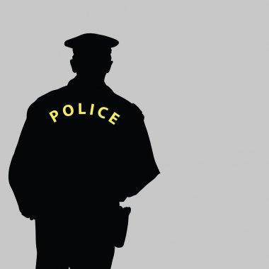 policeman silhouette vector illustration