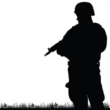 soldier in the nature vector