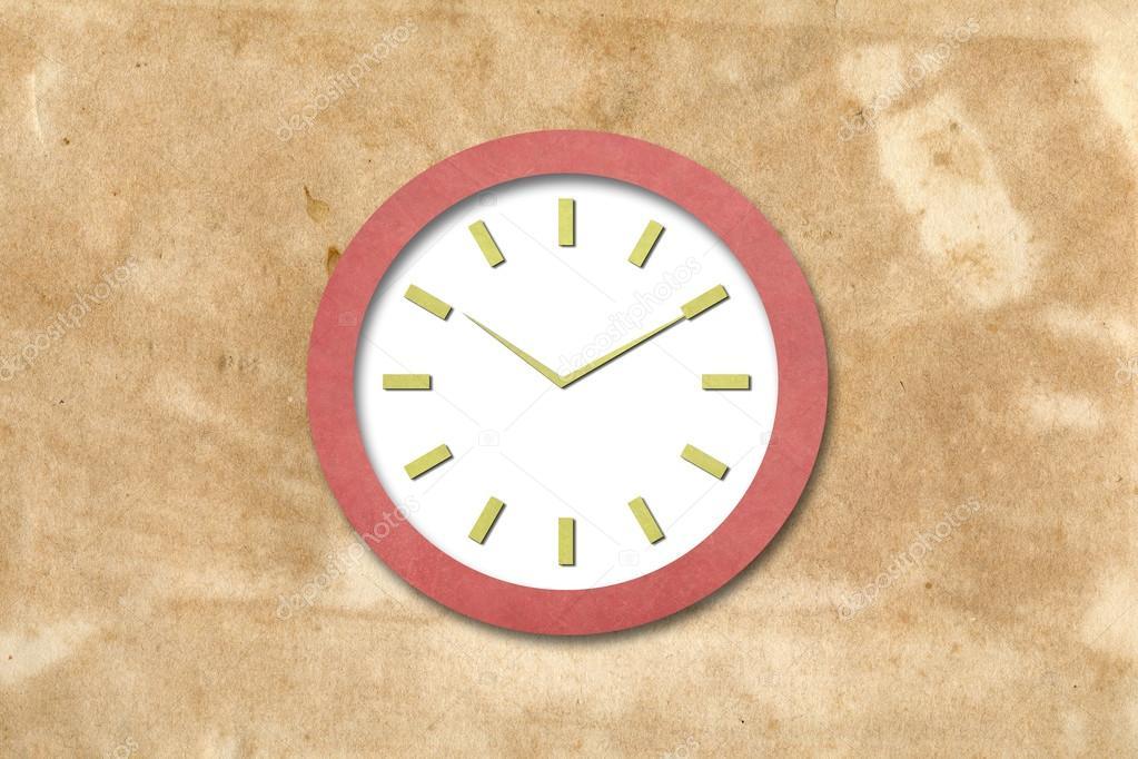 Orologio Di Carta Foto Stock Smudger087 13751121