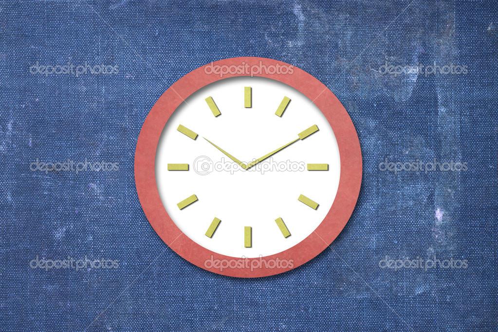 Orologio Di Carta Foto Stock Smudger087 13751274