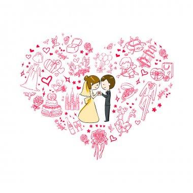 Wedding invitation clip art vector