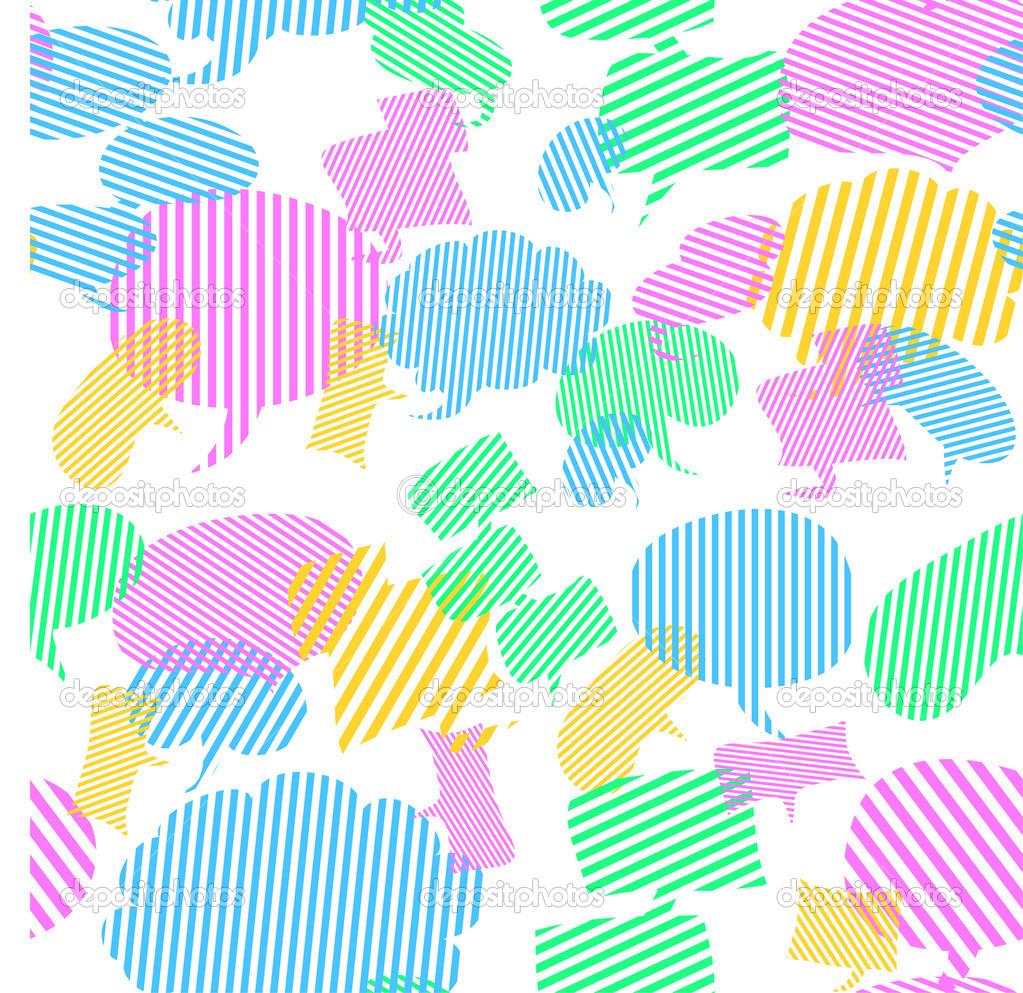 Cute Speech Bubbles Wallpaper Stock Vector