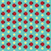 Fotografia coccinelle e fiori