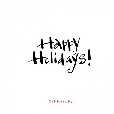 Greeting card. Happy holidays !