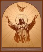 Ježíš Kristus, Duch svatý, požehnání, křesťanství, vektor