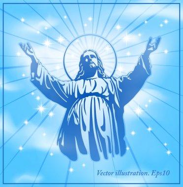 Jesus Christ, holy Spirit, blessing, Christianity, vector