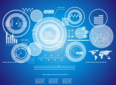 Modern virtual technology background stock vector