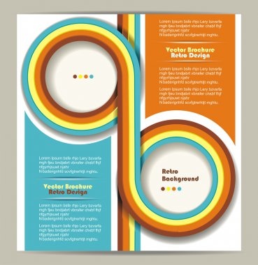 Brochure design with grungy retro background