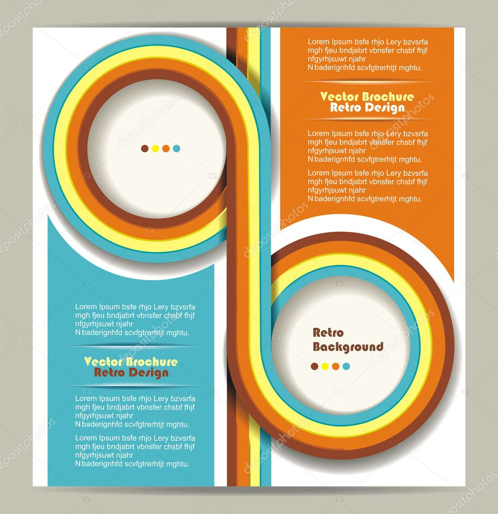 Brochure design with grungy retro background stock for Background for brochure design