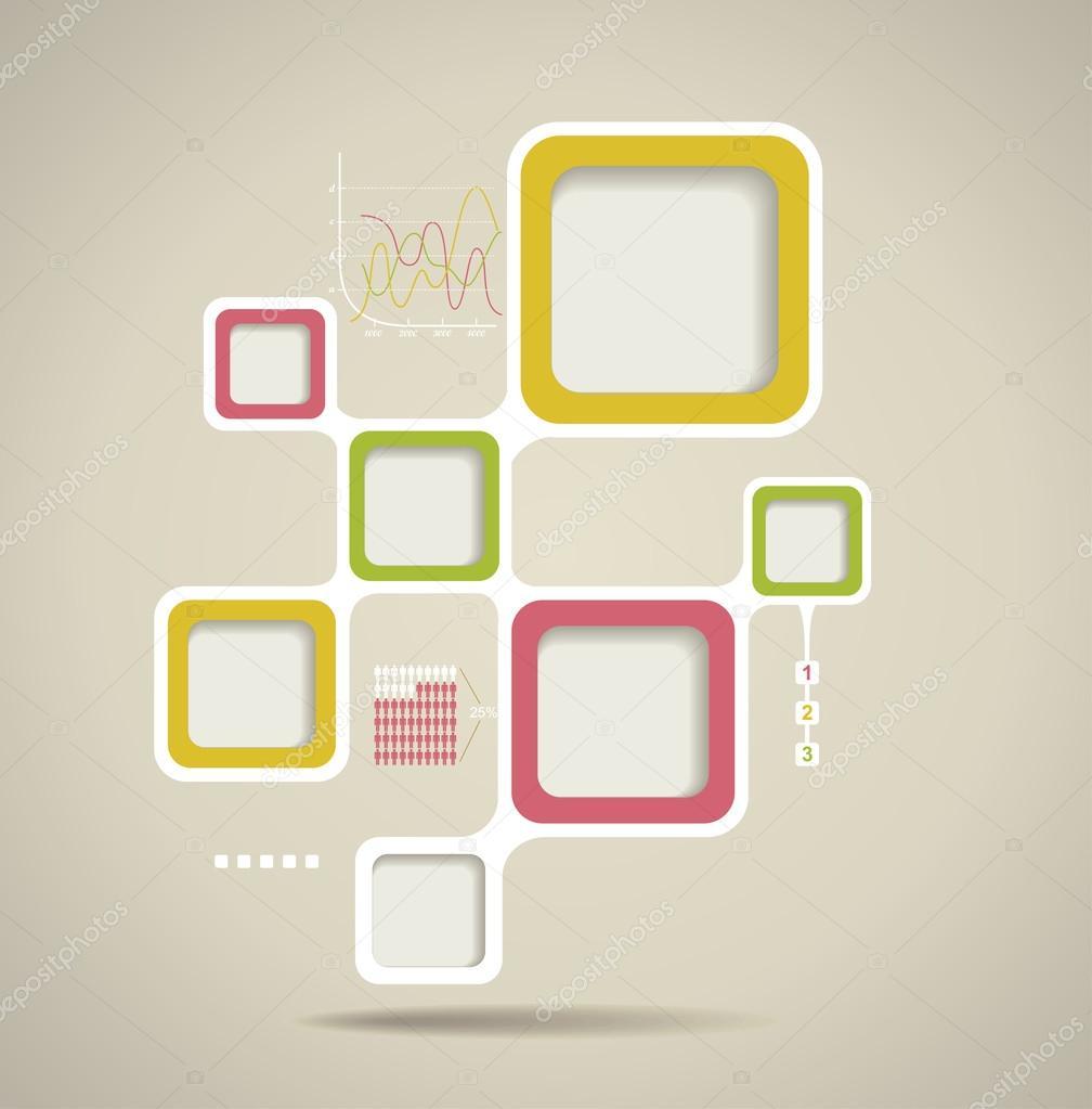 plantilla de sitio web de estilo retro, diseño de marco de vector ...