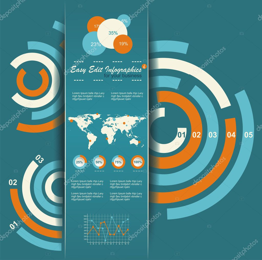 Set of infographic elements world map and information graphics set of infographic elements world map and information graphics stock vector gumiabroncs Gallery