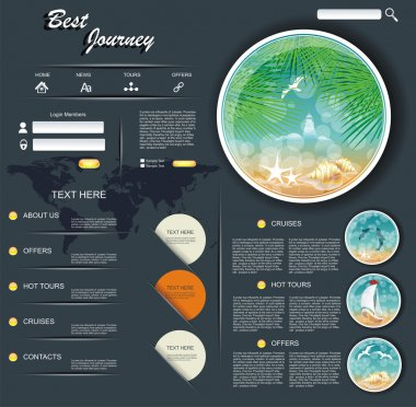 Travel web design template