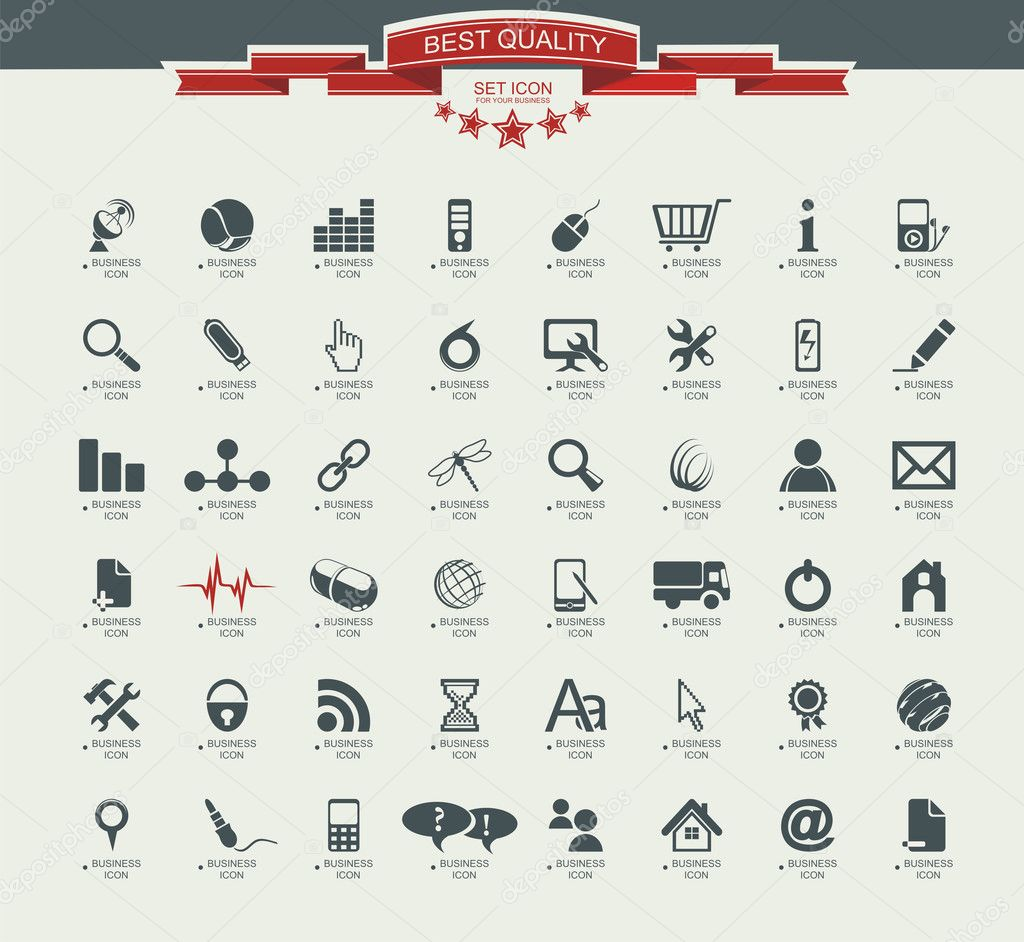 Quality icon Set (Service, Medical, Media, Mail, Mobile, ,Web ,