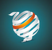 abstraktní koule z barevné pruhy