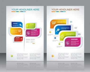 Vector brochure template design with abstract elements. clip art vector