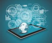 Fotografia touch pad personal computer tecnologia business concetto